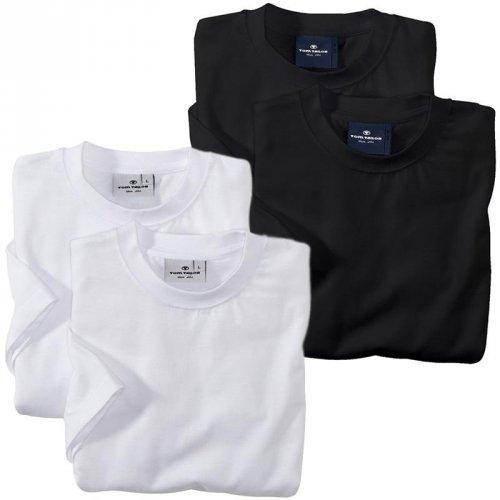 TOM TAILOR 2er Pack T-Shirt weiß schwarz S M L XL XXL WOW