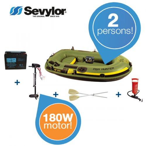 """Sevylor Schlauchboot inkl. Motor """"Fish Hunter HF250""""  für 188,90€ @ Ibood"""