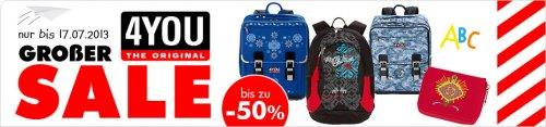 [mytoys.de] Bis zu -50% Rabatt auf 4YOU-Produkte (Schulrucksack, Sporttaschen, Hardbox, etc.)