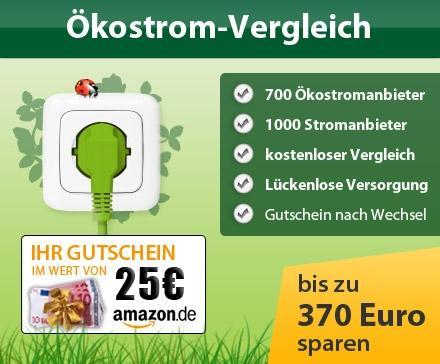 Dailydeal Speeddeal: 25€ Amazon Gutschein für Stromanbieterwechsel