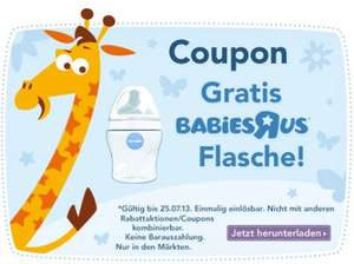 ToysRus: Gratis BabiesRus Flasche