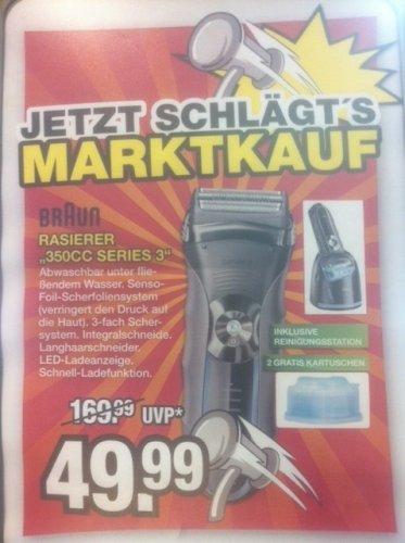 [Lokal Marktkauf Voerde] Braun Rasierer 350CC Series 3 inkl. Reinigungsstation