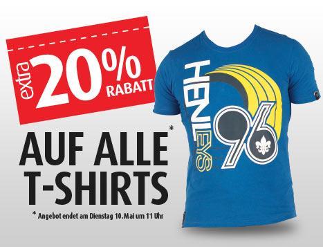 MandMDirect - 20% auf alle T-Shirts