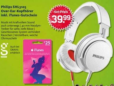 Philips SHL3105WT Kopfhörer + 25€ Itunes Gutschein (BUNDESWEIT!) (ab August!?)