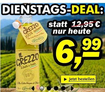 gustini: Fast 50% Rabatt (nur heute) Il Grezzo 100% Italiano Olio Extra Vergine d'Oliva  6,99 € 1 Liter