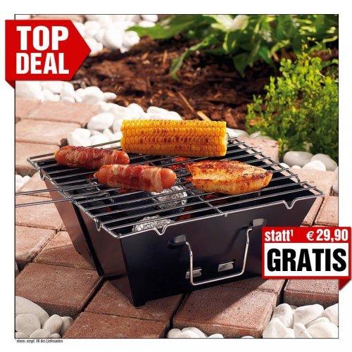 GRATIS: Falt-Grill, ultraflach zusammenfaltbar bei Pearl.de