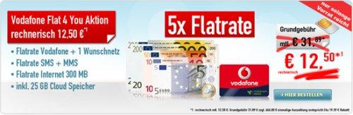 Handyvertrag Sonder Aktion Flat 4 YOU nur 12.50 € 466 € auf Konto