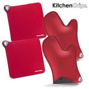 KitchenGrips Doppelpack Topflappen und Doppelpack Untersetzer für 30,90€ @iBOOD