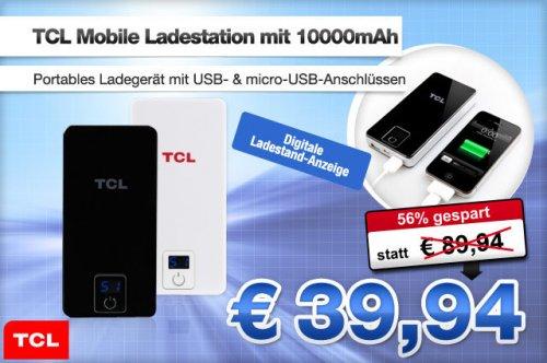 TCL Mobile Ladestation Ladegerät mit 10000mAh für 39,94€ statt 89,94€
