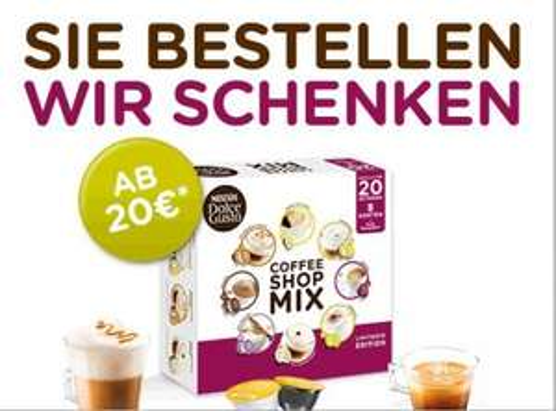 Dolce Gusto Coffee Shop Mix gratis bei Online-Bestellung im DolceGusto-Shop >20 Euro