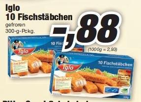 [Lokal Lauf a.d.Pegnitz] Iglo Fischstäbchen 0,88€, Ritter Sport 0,55€, Erdbeeren 500g 0,99€ Wagner Steinofenpizz 1,49€