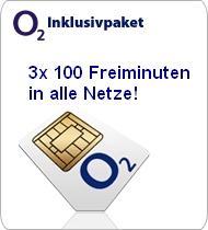 3x o2 Prepaid SIM KARTEN mit 100 Freimin. in ALLE NETZE *FÜR 1€* @ ebay