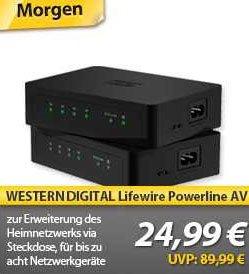 Western Digital Livewire Powerline AV Netzwerk Kit  für 24,99 Euro @ MeinPaket