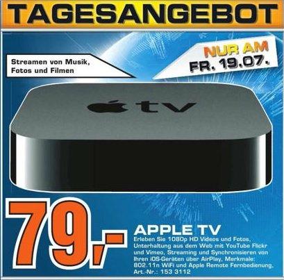 Apple TV 3 am 19.7.2013 im Saturn Berlin Köpenick für  79 Euro