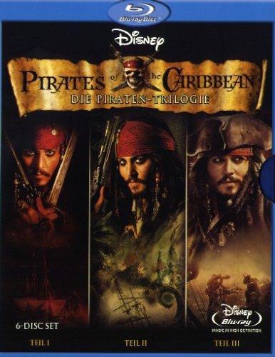 Lokal Saturn Köln: Pirates of the Caribbean Trilogie als 6-Blu-Ray-Box für € 19,99, als DVD-Box für € 10,--