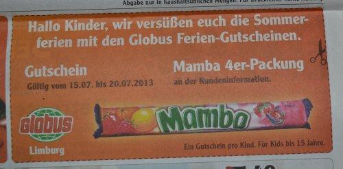 [Lokal] Globus Limburg Mamba 4er Packung für Kinder bis 15 Jahre