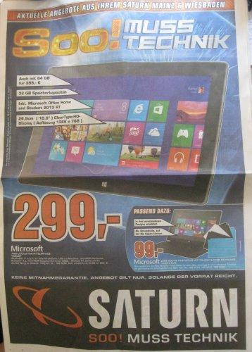 [Saturn MAINZ & Wiesbaden] Microsoft Surface RT 32 GB