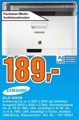 [Lokal Esslingen] Saturn Wiedereröffnung, Samsung CLX 3305 Multifunktionsfarblaserdrucker