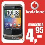 HTC Wildfire mit brauchbaren Vodafone junge-Leute Vertrag für 4,95€ @ebay