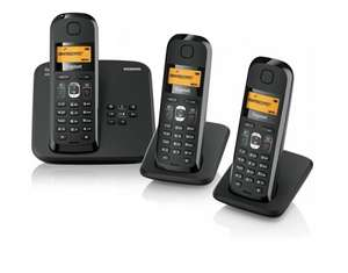 SIEMENS GIGASET AS185 TRIO OVP TELEFON SCHNURLOS MIT AB CLIP