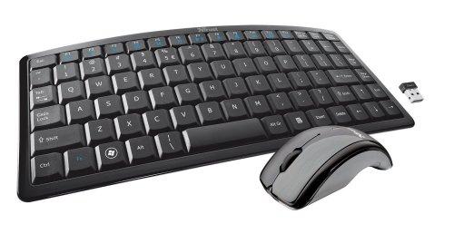Trust Curve Wireless Tastatur mit Maus (DE, USB) schwarz NEU.