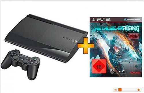 SONY PS3 12 GB schwarz inkl. Metal Gear Rising: Revengeance 169€