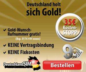 35€ Kostenschutz-Tarif mit kostenloser Wunschrufnummer im Wert von 50€ + 25€ Handy-Gutschein