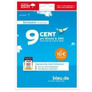 Blau.de Prepaidkarte mit 10€ Guthaben für 1€ @Redcoon