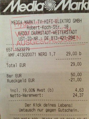 [MM] Wasserkocher WMF Nero 1,7 l - 29 €