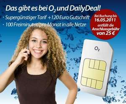 120€ O2 Gutschrift für nur 1,90 bei DailyDeal