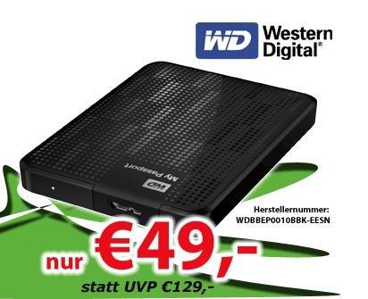 Western Digital My Passport 1TB USB 3.0 für 49€ bei 0815