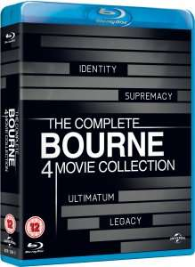 (UK) The Complete Bourne Movie Collection [4 x Blu-ray] für 16.20€ @Zavvi