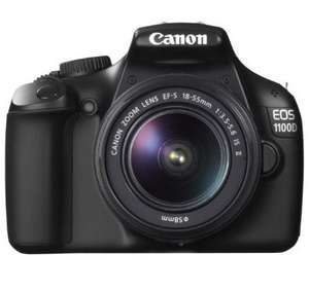 Canon EOS 1100D SLR-Digitalkamera (12 Megapixel, 6,9 cm (2,7 Zoll) Display, HD-Ready