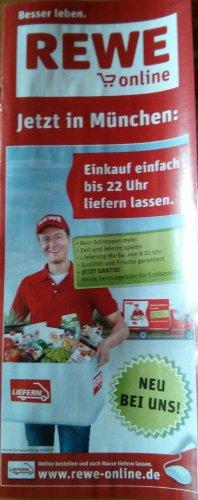 [München] REWE-Online (Lieferservice) – 1. Bestellung ohne Liefergebühr + ggf. 5€ GS
