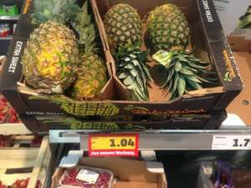 Sweet Pineapple/Ananas (lokal HH?) PENNY 1,04€