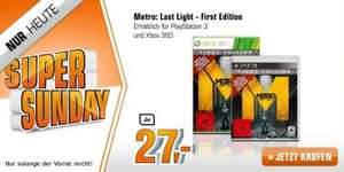 Metro: Last Light - First Edition - 100% UNCUT PS3/XBox je 27 Euro
