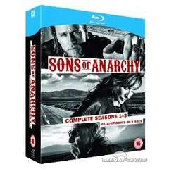 (UK) Sons of Anarchy - Seasons 1-3 [12 x Blu-ray] für ca. 24.34€ @ TheHut