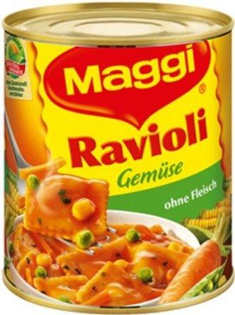 @Amazon (Prime): Maggi Gemüse-Ravioli in Tomatensauce, 6er Pack (6 x 800g Dose) für nur 2,94€