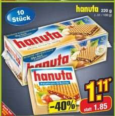 Hanuta 1,11€ 40% Rabatt nur diesen Samstag in Netto ohne Hund