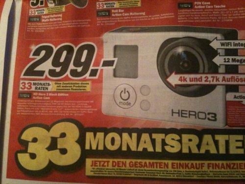 [Duisburg, Essen, Mühlheim, etc.] GoPro Hero 3 Black Edition bei Mediamarkt