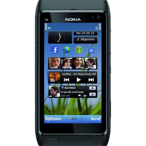 Nokia N8, silber & schwarz @ Amazon NEU für 327 €