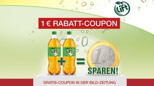 [BILD-Coupon] 2 große Flaschen Lift Apfelschorle für 0,78€ - 1,38 €