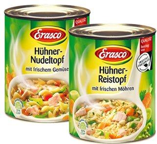 ERASCO Produkte 0,50€ zurück !! 0,89€ statt 1,39€ bei COUPIES Cashback