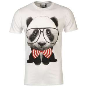 Goodie Two Sleeves Men's Panda T-Shirt für 10€ @TheHut