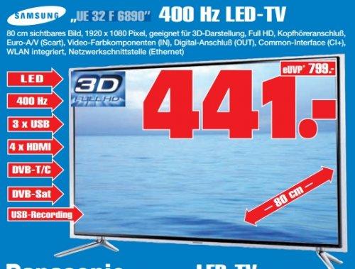 [lokal GE] Samsung TV UE32F6890 (Full-HD, 400Hz CMR, DVB-T/C/S2, Smart TV)