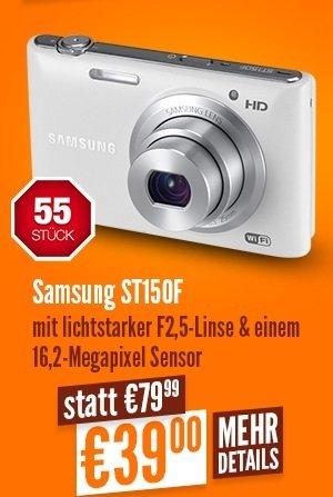 [Lokal Düsseldorf] Notebooksbilliger.de am 27.07 ab 11:11 Samsung Digitalkamera ST150F für 39,- (nur 55 Stück)