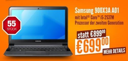 [Lokal Düsseldorf] Notebooksbilliger.de am 27.07 ab 11:11 Samsung Notebook 900X3A A01 für 699,- (nur 55 Stück)