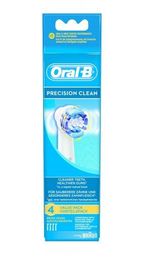 Braun Oral-B Aufsteckbürsten Precision Clean 4er-Pack für 9,50 (Preisvergleich: 12€)