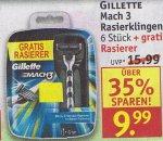 [ ROSSMANN ]   Gilette Mach 3 Rasierer 6+1er Pack ab Montag 9,99€ mit 10% Gutschein nur 9€  /// Ariel für 3,59 mit Gutschein nur 1,59€