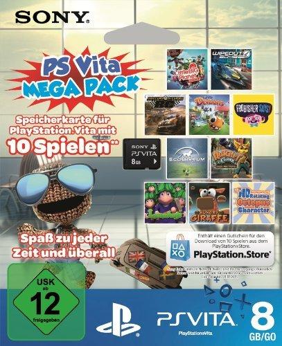 Sony PS Vita Mega Pack - 8GB Speicherkarte + Gutschein für 10 Spiele zum Download